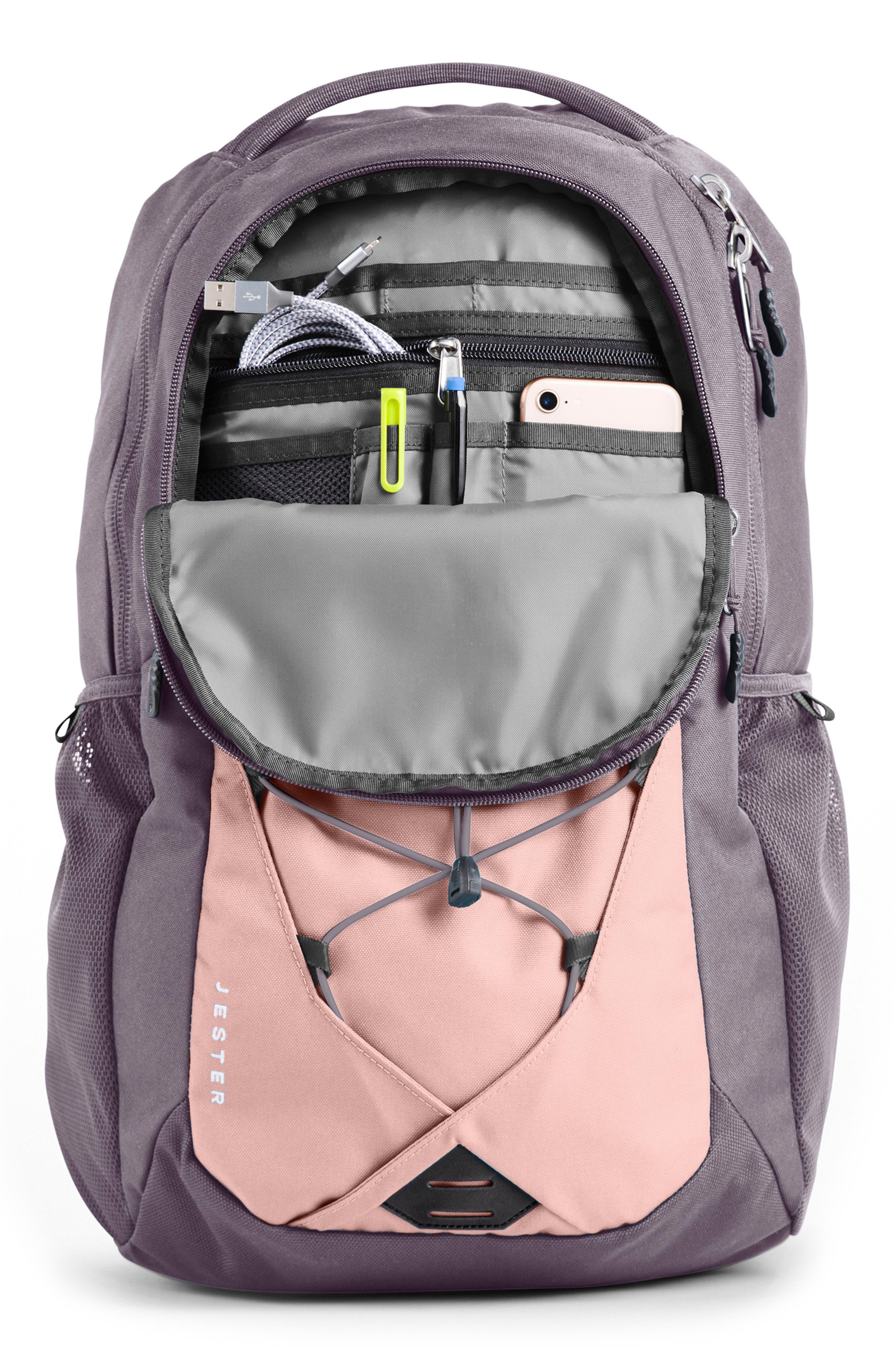 ,                             Jester Backpack,                             Alternate thumbnail 3, color,                             RABBIT GREY/ PINK SALT