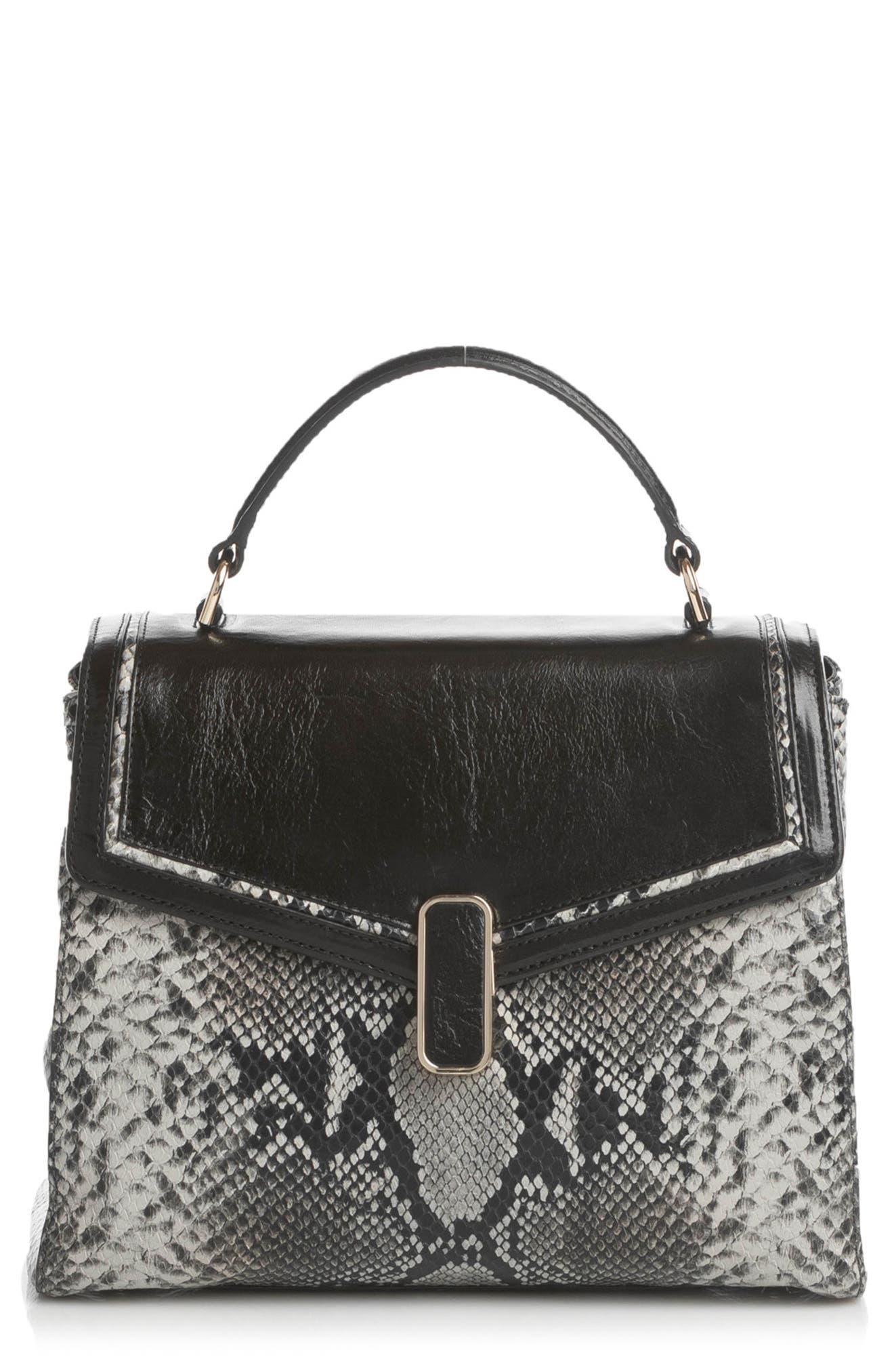 Rene Leather Top Handle Bag