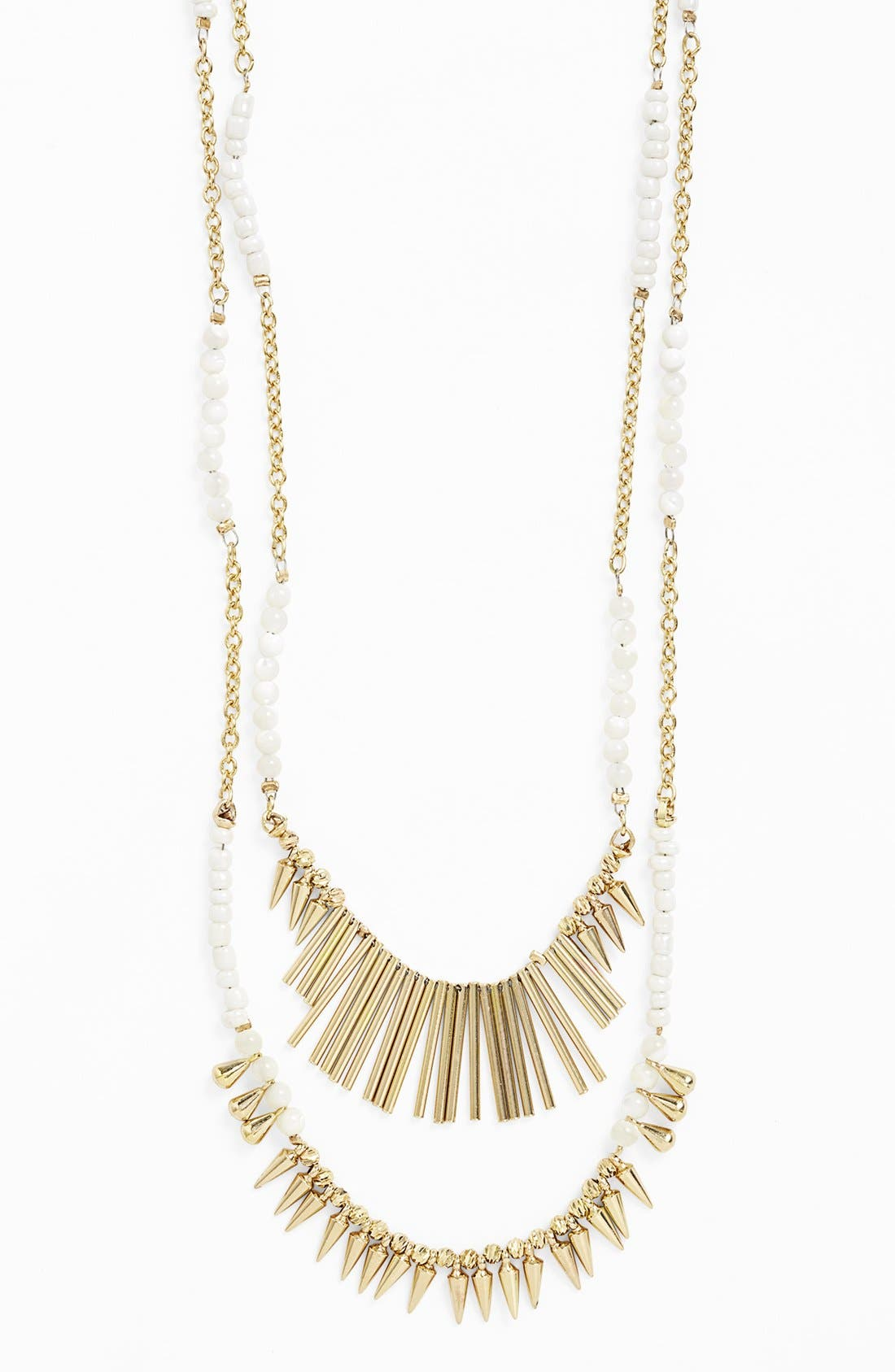 ,                             Beaded Fringed Two-Row Necklace,                             Alternate thumbnail 8, color,                             900