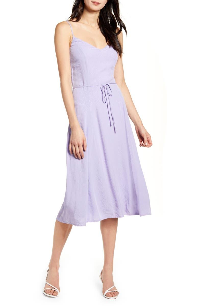 CUPCAKES AND CASHMERE Figueroa A-Line Dress, Main, color, VIOLET TULIP