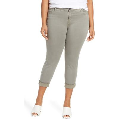 Plus Size Kut From The Kloth Amy Crop Straight Jeans, Green