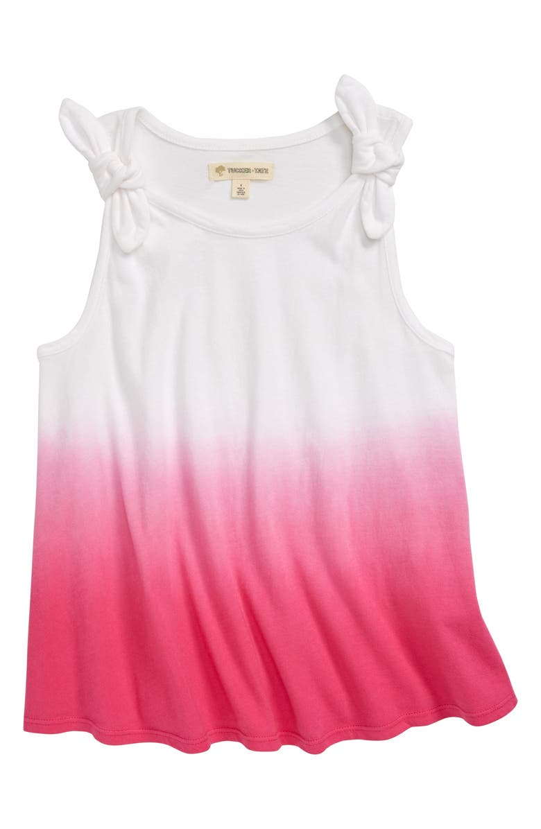 TUCKER + TATE Groovy Tank Top, Main, color, WHITE- PINK DIP DYE