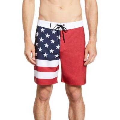 Hurley Phantom Patriot Board Shorts, Red