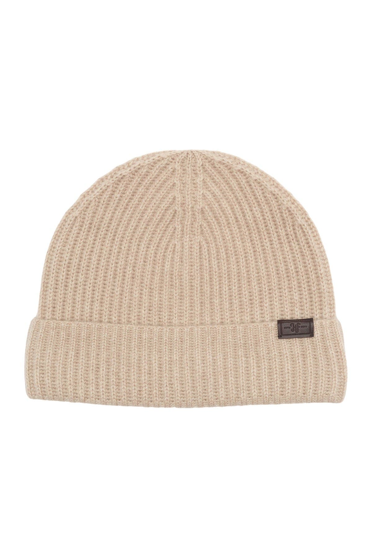 Image of Hickey Freeman Cashmere Knit Cuffed Beanie