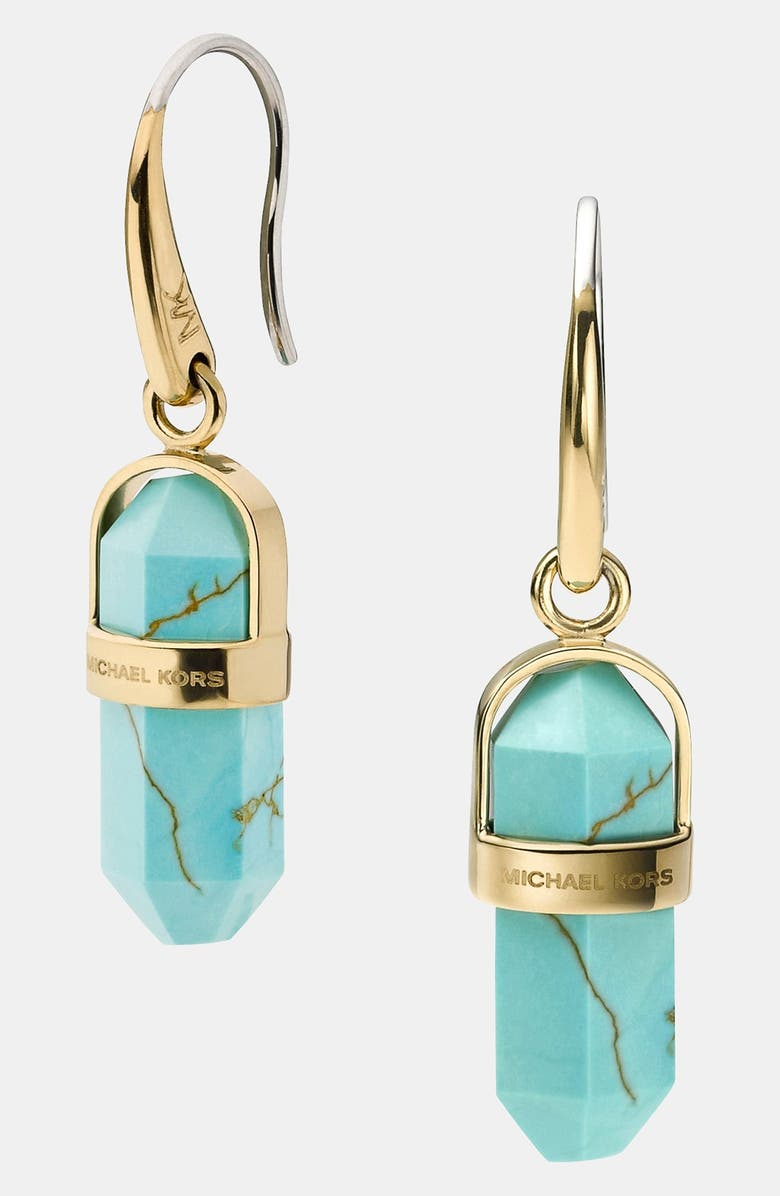 MICHAEL MICHAEL KORS Michael Kors 'Seaside Luxe' Stone Drop Earrings, Main, color, 440