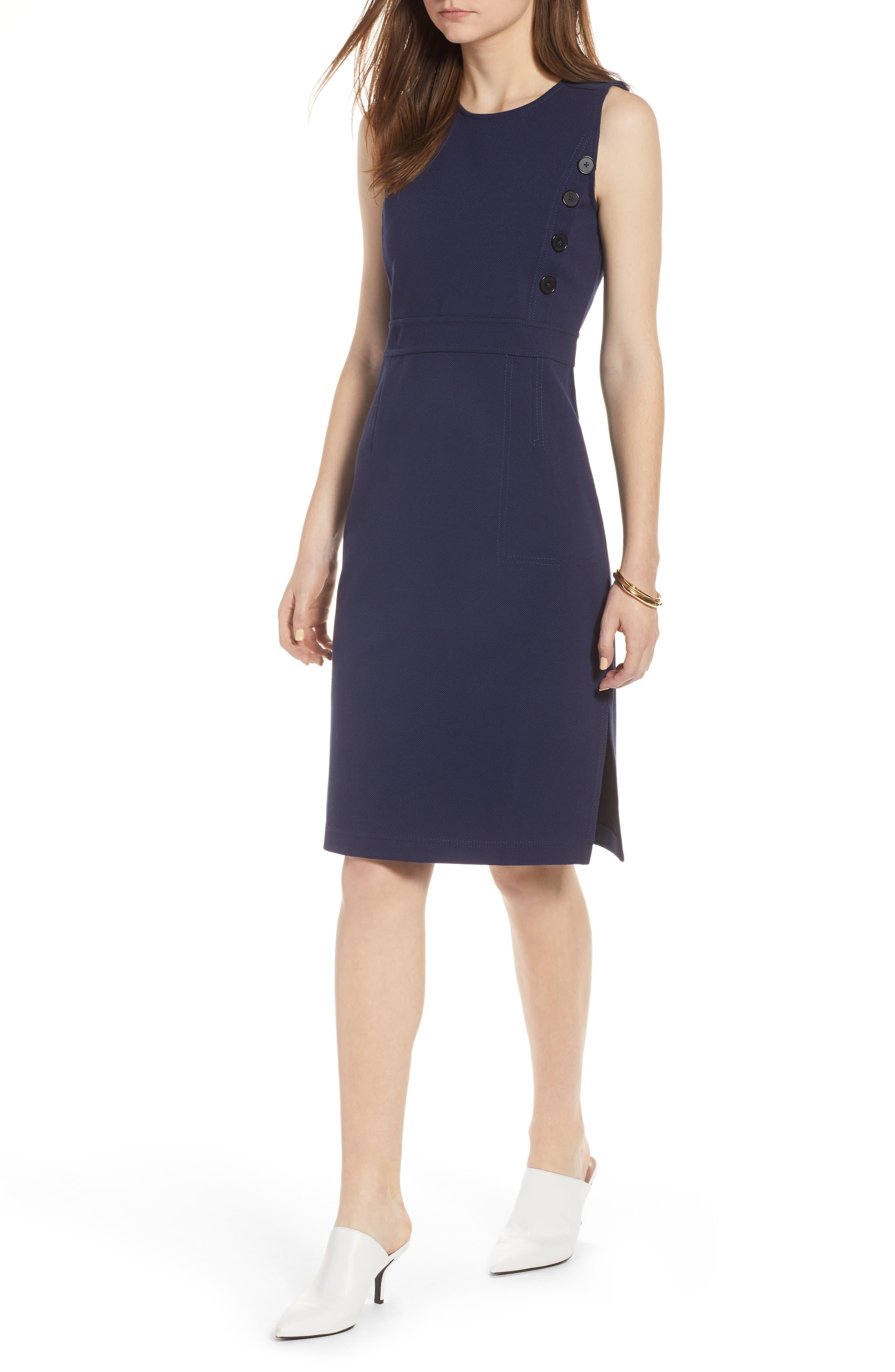 Halogen Knit Sheath Dress, Blue