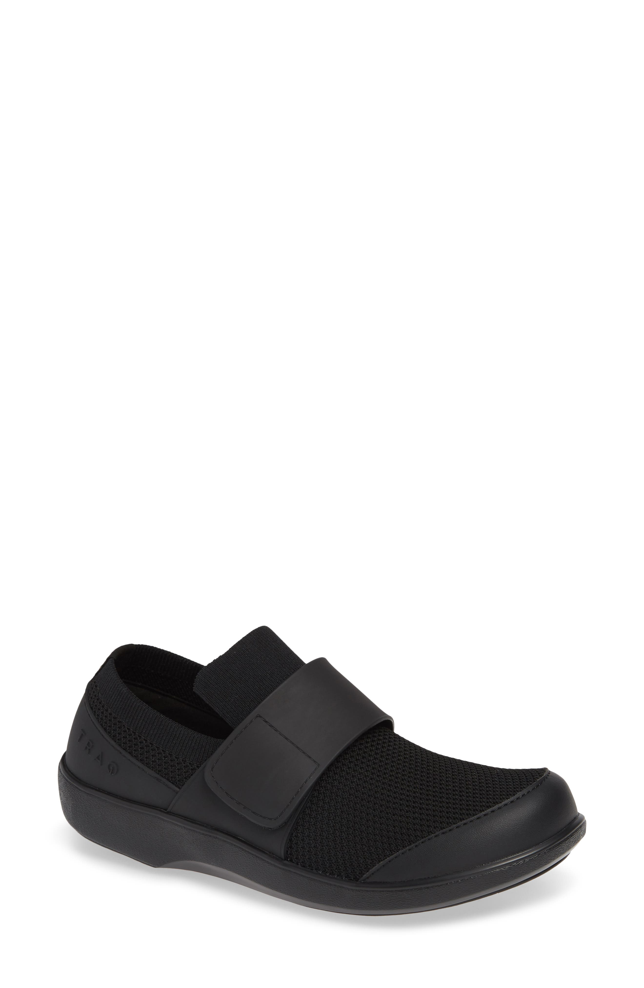 Qwik Sneaker, Main, color, BLACK OUT LEATHER