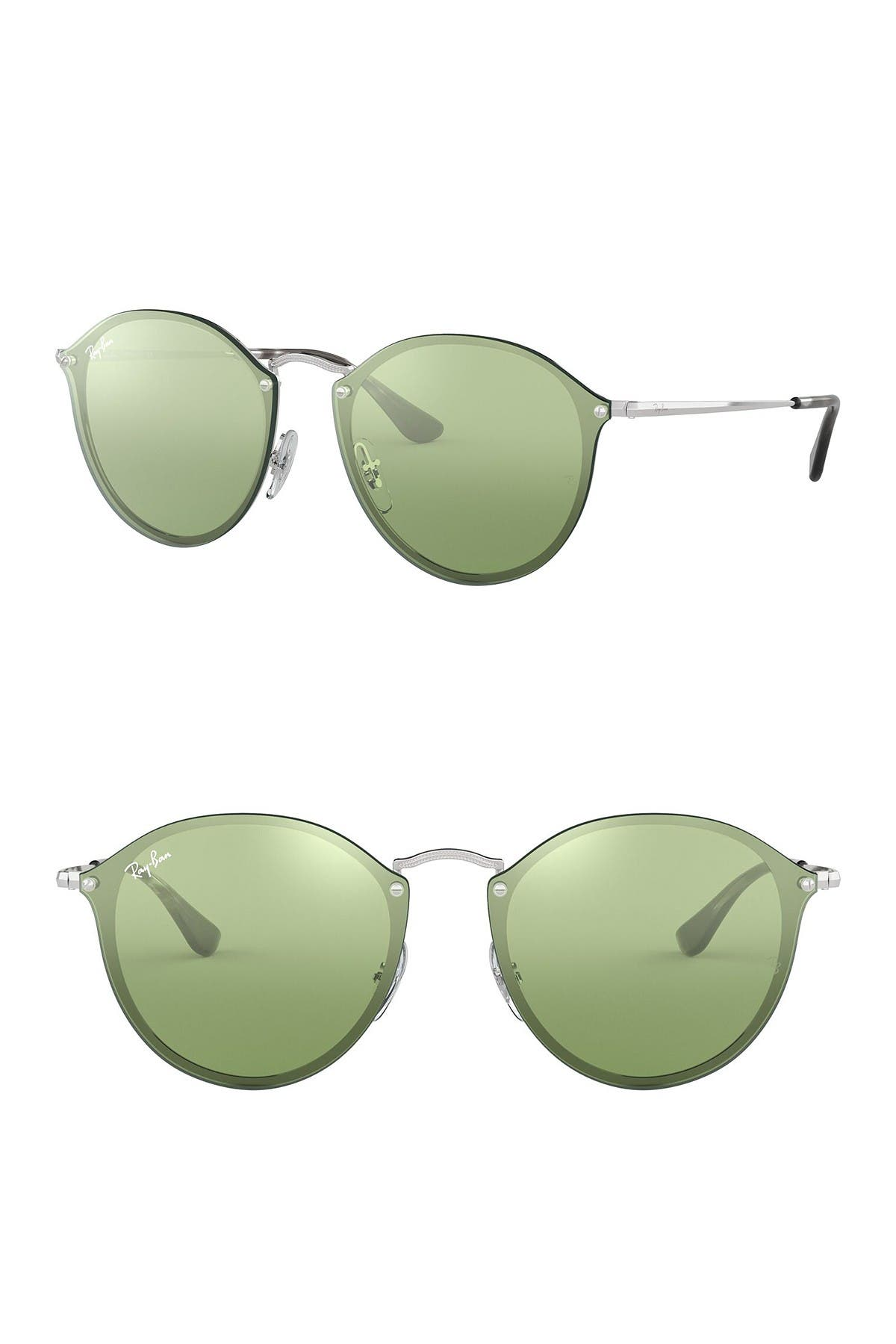 Image of Ray-Ban 59mm Blaze Round Mirrored Sunglasses