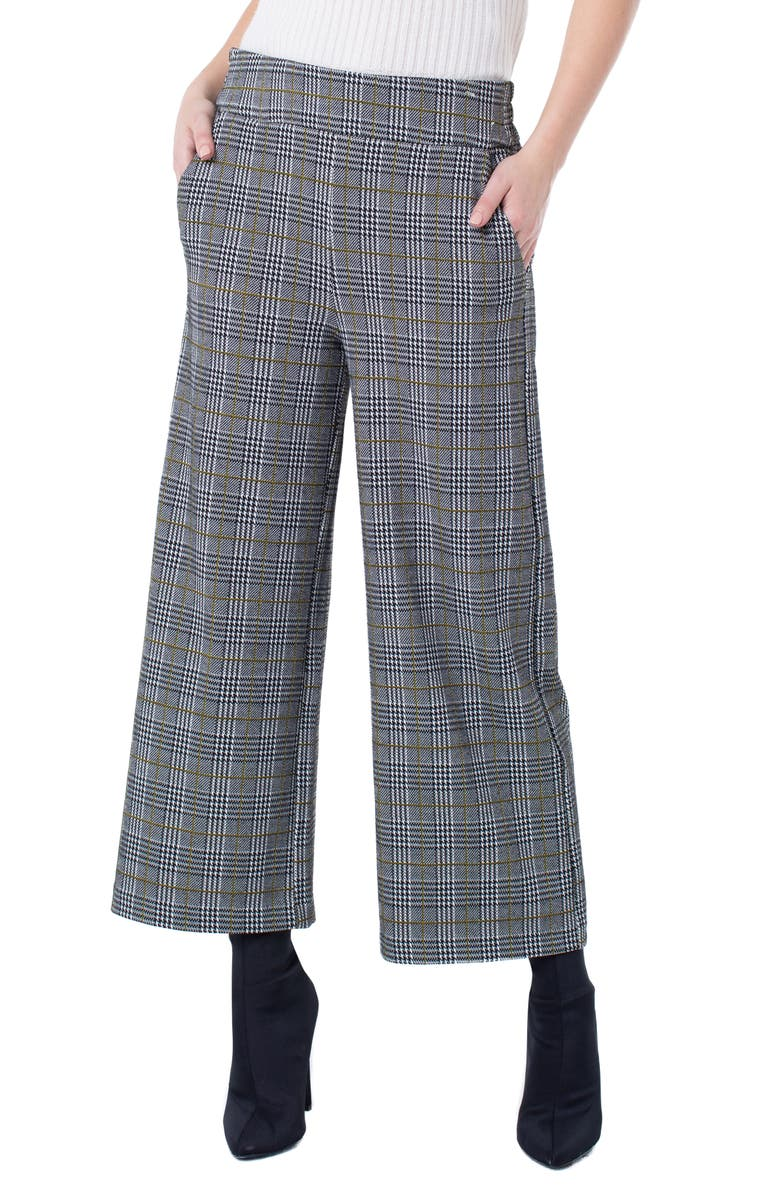 Liverpool Mabel Plaid Wide Leg Ankle Pants