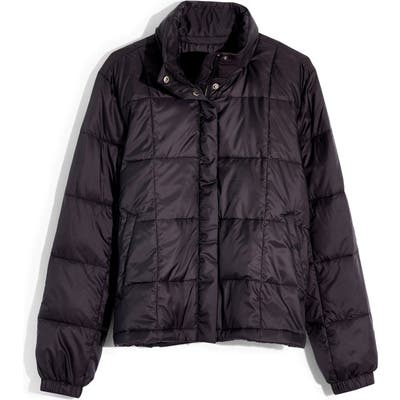 Madewell Travel Buddy Packable Puffer Jacket, Black