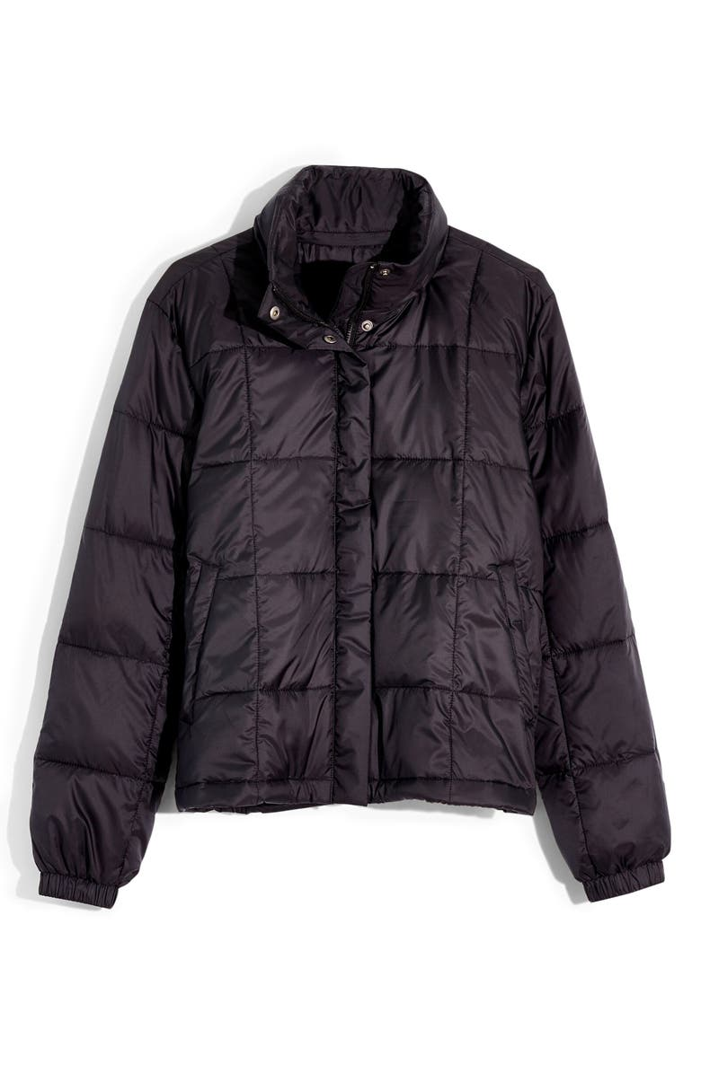 MADEWELL Travel Buddy Packable Puffer Jacket, Main, color, TRUE BLACK