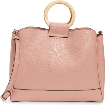 Sole Society Nicoh Faux Leather Satchel - Pink