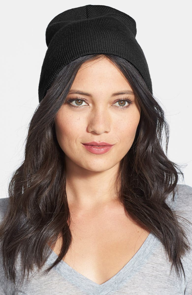 PHASE 3 Knit Beanie, Main, color, 001