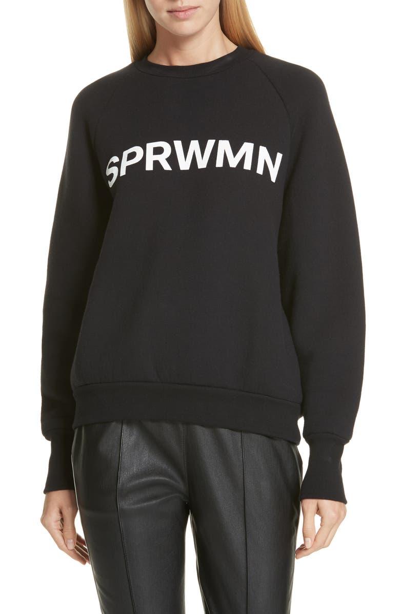 SPRWMN Logo Sweatshirt, Main, color, 001