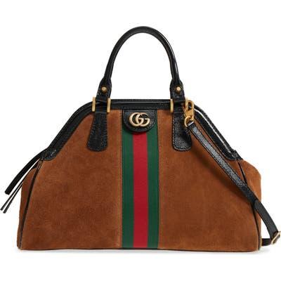 Gucci Medium Re(Belle) Suede Satchel - Brown