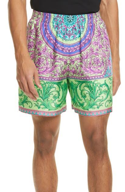 Versace Shorts PRINT SILK SHORTS