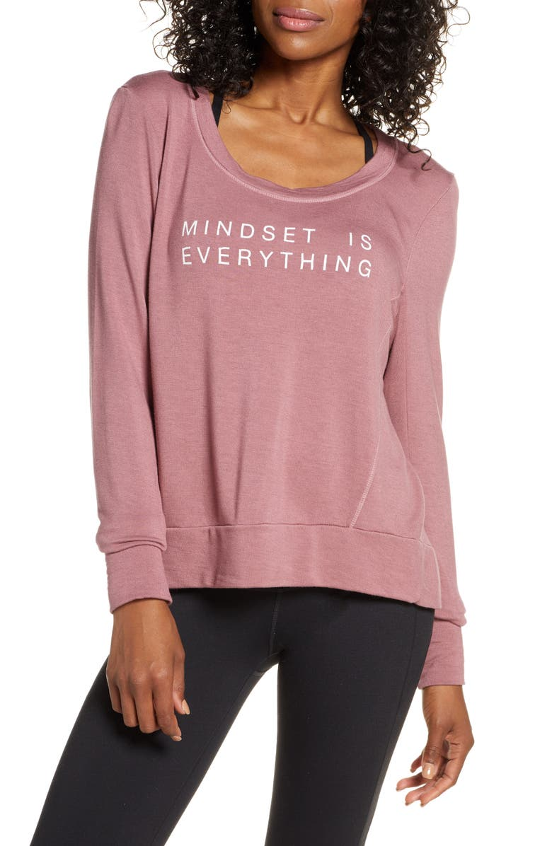 GOOD HYOUMAN Jules Mindset Sweatshirt, Main, color, TWILIGHT MAUVE