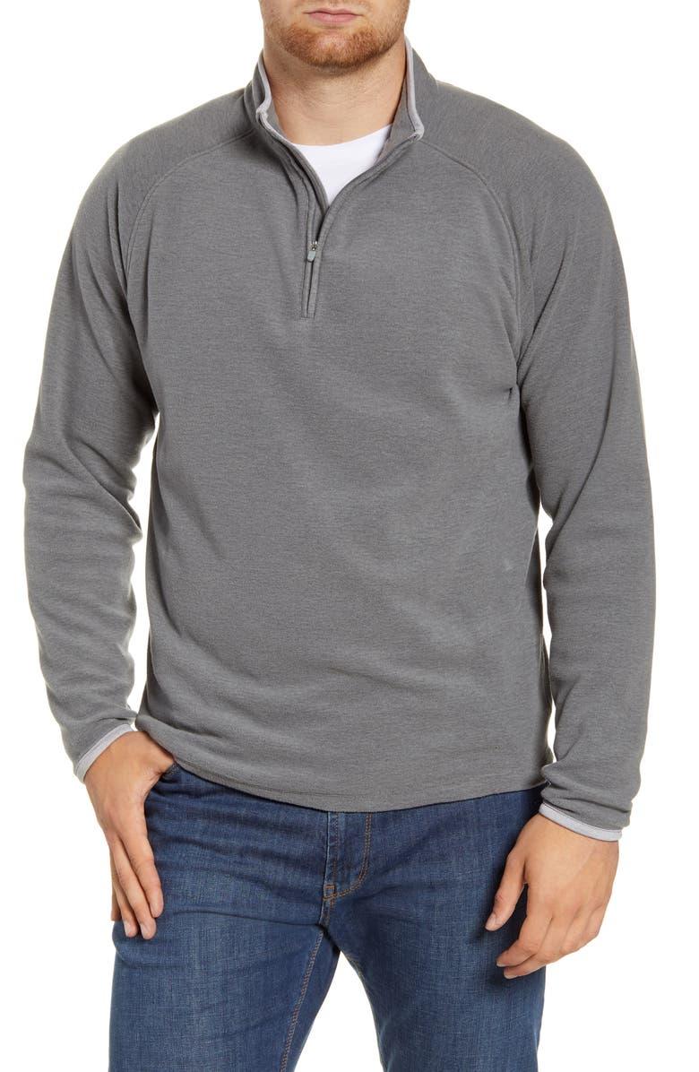 PETER MILLAR All Day Quarter Zip Fleece Pullover, Main, color, 025