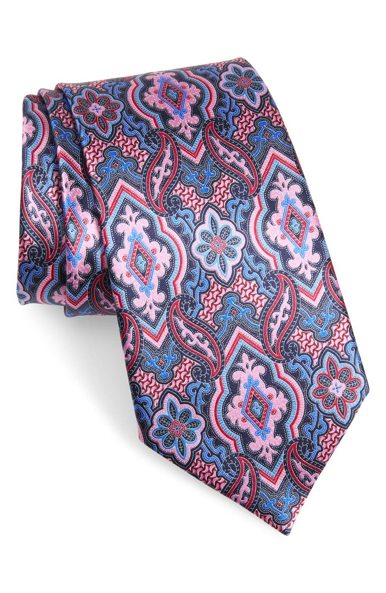 ERMENEGILDO ZEGNA Paisley Silk Tie, Main, color, 668