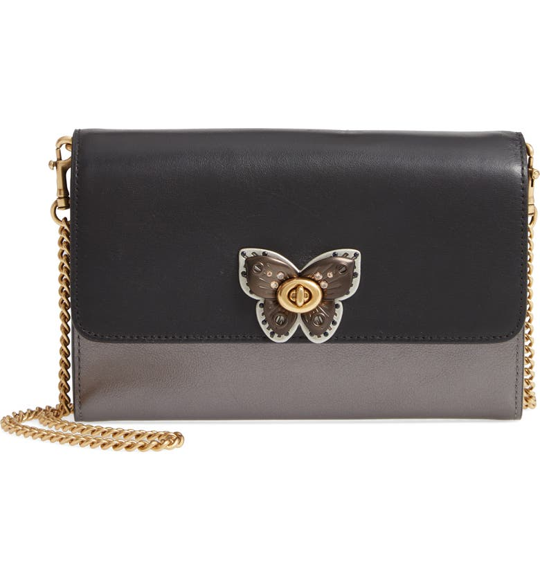 ffbb850a3d Marlow Butterfly Leather & Genuine Snakeskin Crossbody Bag, Main, color,  BLACK MULTI