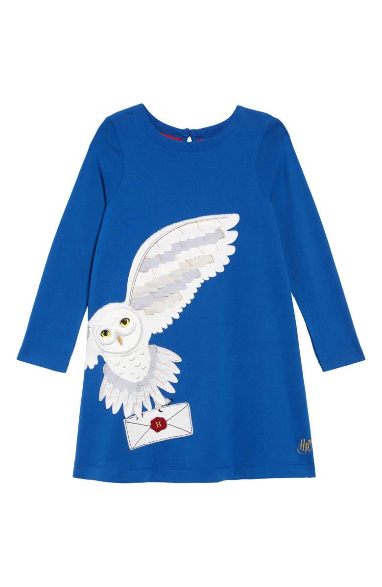 MINI BODEN Hedwig Post Dress, Main, color, DUKE BLUE