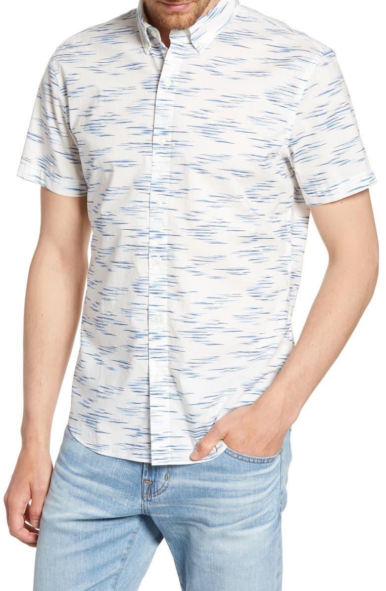 BONOBOS Riviera Slim Fit Faux Ikat Print Shirt, Main, color, FAUX IKAT