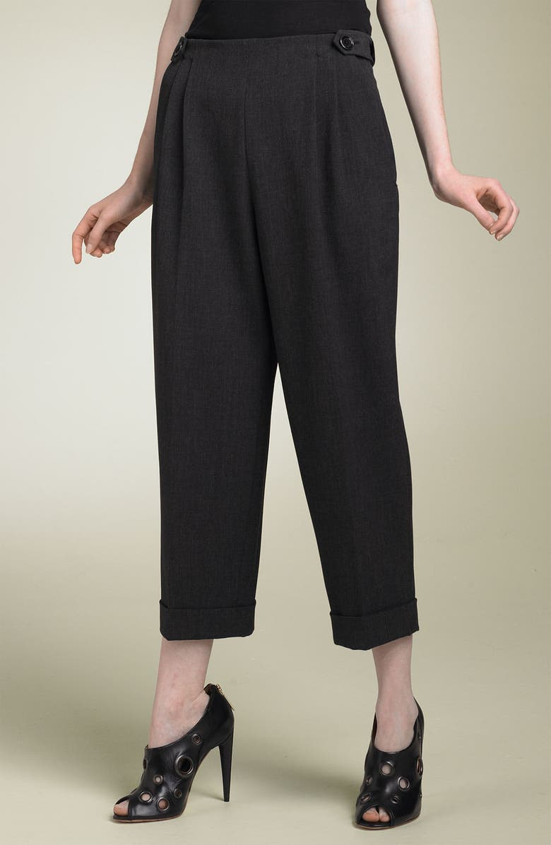 ROBERT RODRIGUEZ Pleated Crop Pants, Main, color, 060