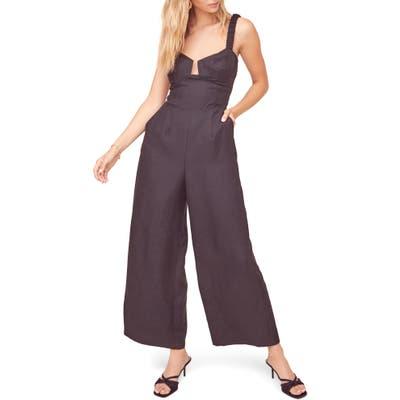 Astr The Label Versaille Sleeveless Wide Leg Jumpsuit, Black