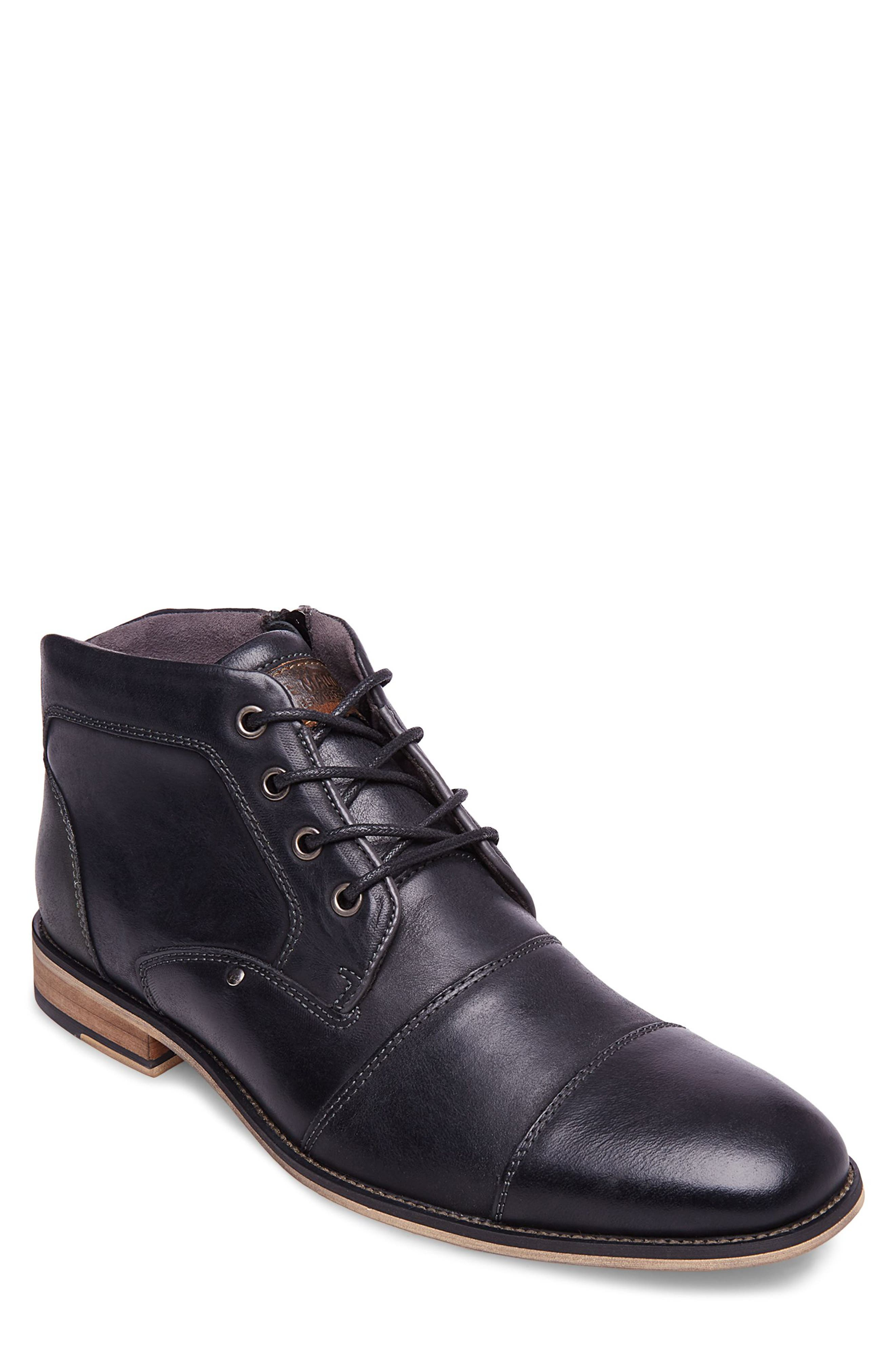 Steve Madden Johnnie Cap Toe Boot, Black