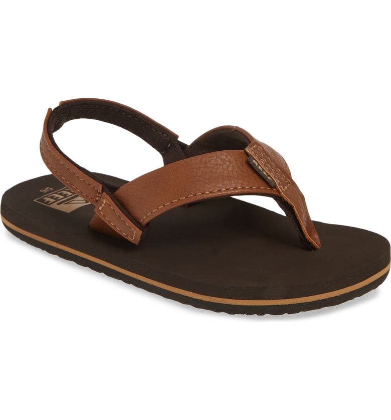 REEF Twinpin Thong Sandal, Main, color, BROWN
