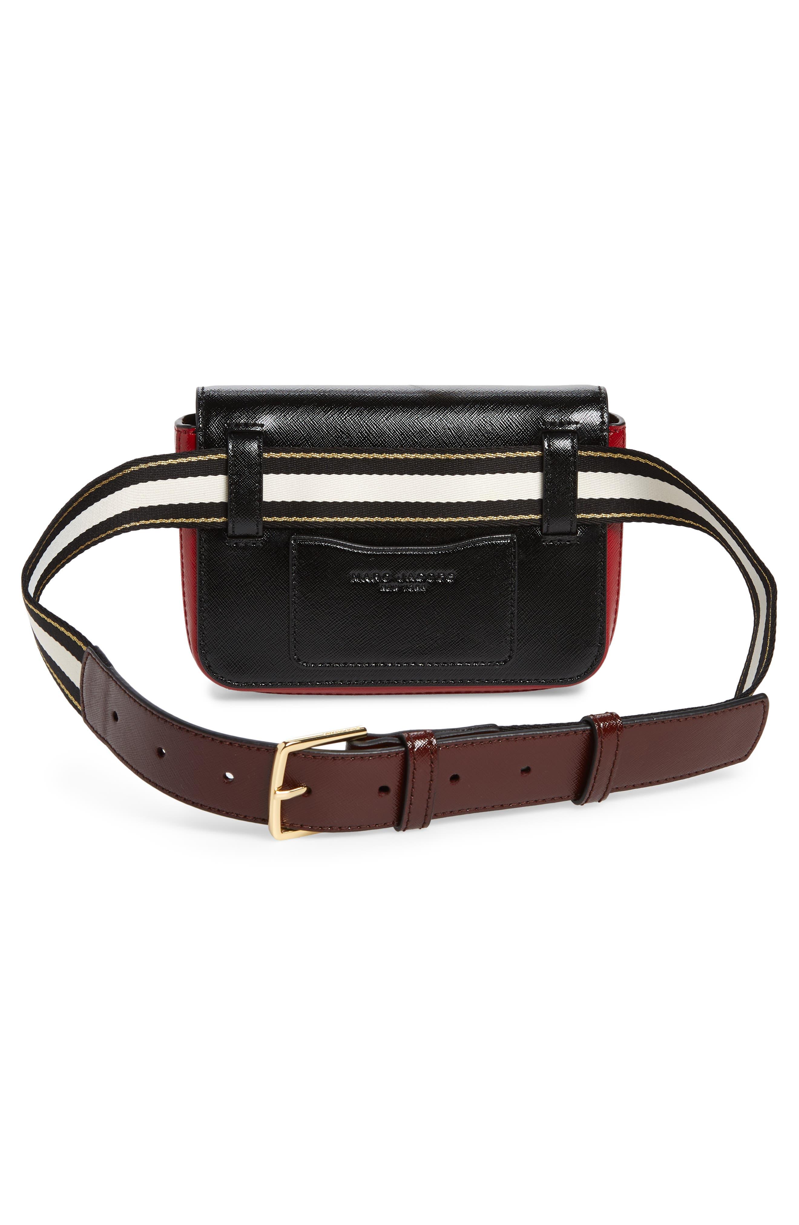 ,                             Hip Shot Convertible Crossbody Bag,                             Alternate thumbnail 3, color,                             BLACK/ RED