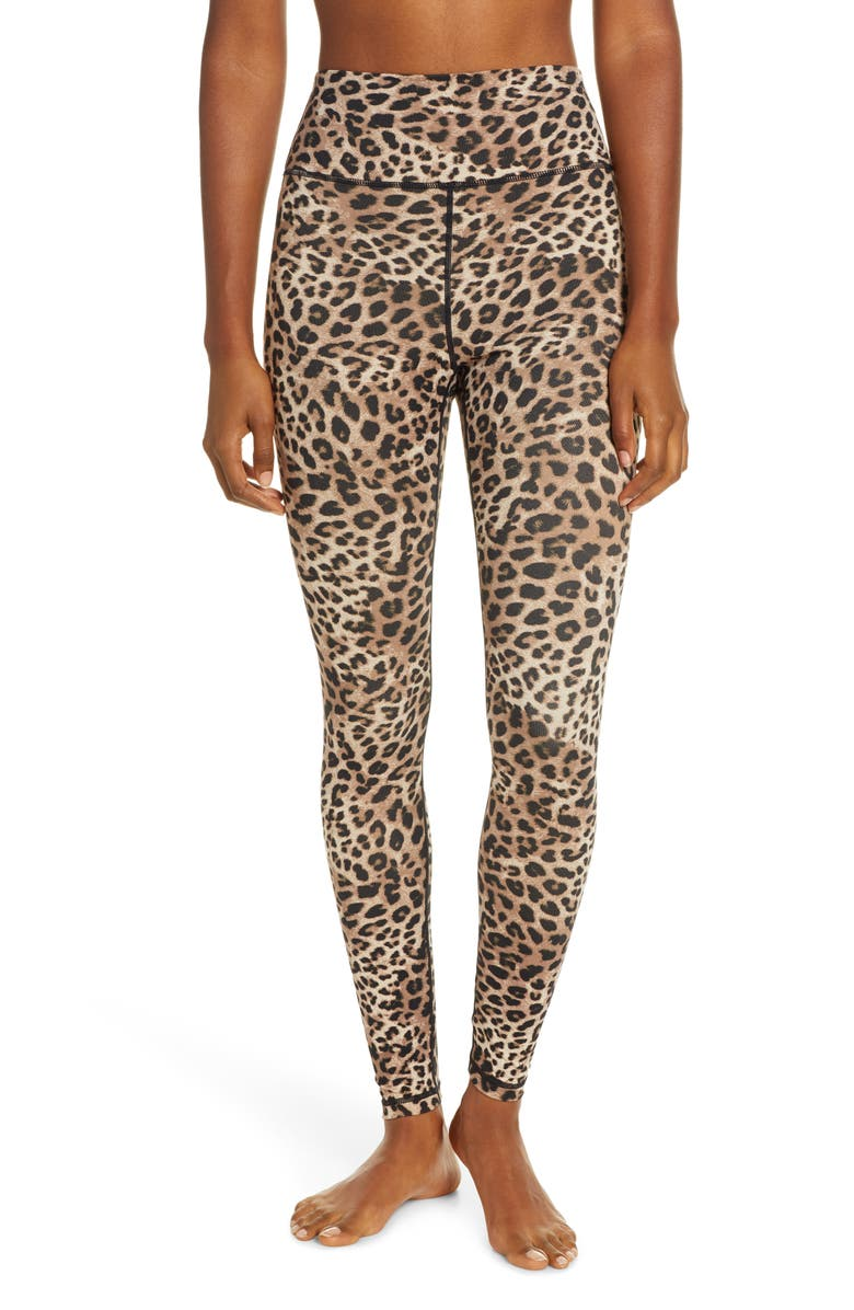 SPIRITUAL GANGSTER Spritual Gangster Perfect Cheetah Print Leggings, Main, color, CHEETAH PRINT