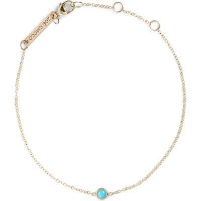 Zoe Chicco Turquoise Bezel Line Bracelet