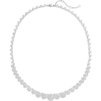 Nordstrom Graduated Pave Disc Collar Necklace