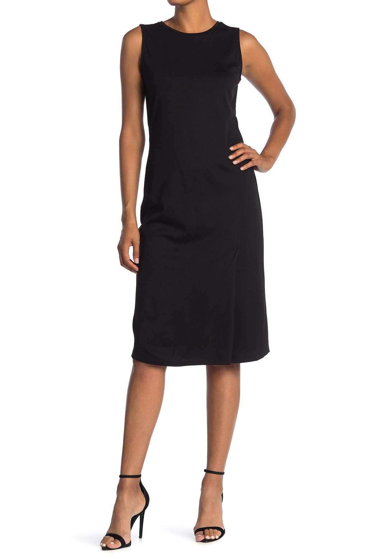 Image of T Tahari Sleeveless Ponte Knit Midi Dress