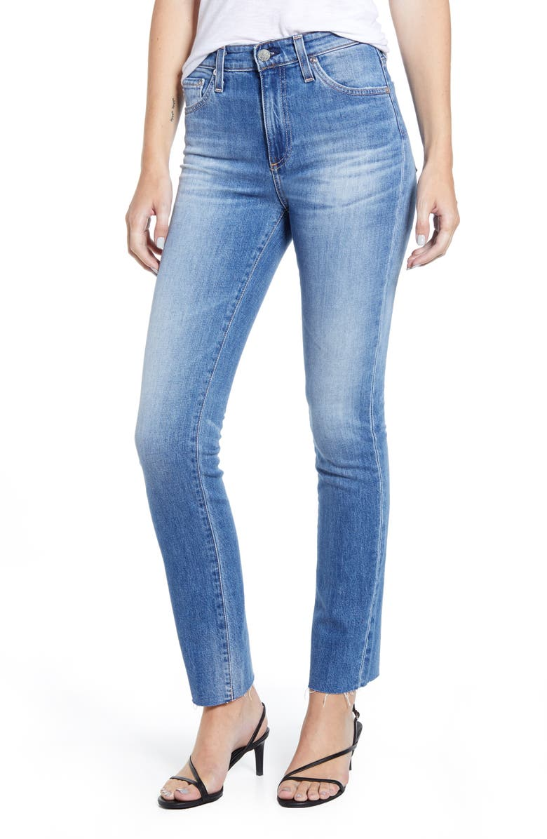 AG Mari Straight Leg Jeans, Main, color, 12YR PERSISTENT