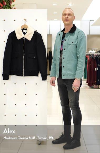 Harrington Faux Shearling Collar Jacket, sales video thumbnail