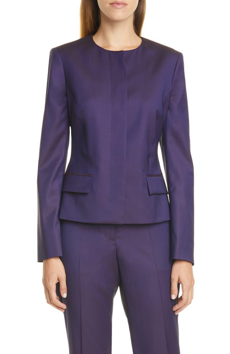 BOSS Jamaren Wool Suit Jacket, Main, color, 507