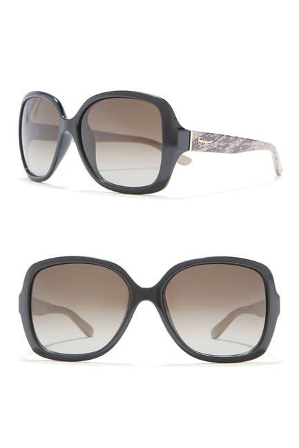 Image of Salvatore Ferragamo 56mm Oversized Sunglasses