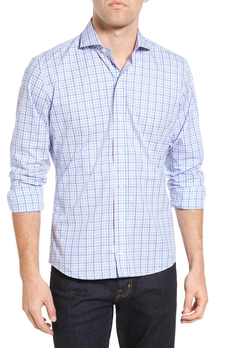 LEDBURY The Sulgrave Slim Fit Check Sport Shirt, Main, color, 450
