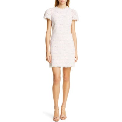 Kate Spade New York Puff Sleeve Tweed Dress, Pink