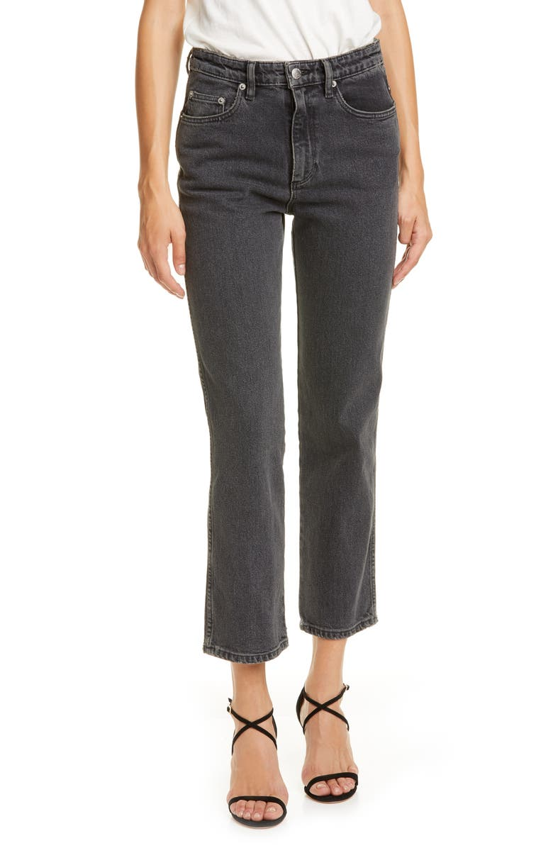 SIMON MILLER Crop Jeans, Main, color, MID BLACK WASH 1