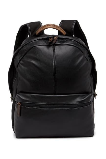 Image of BOCONI Slim Profile Leather Backpack
