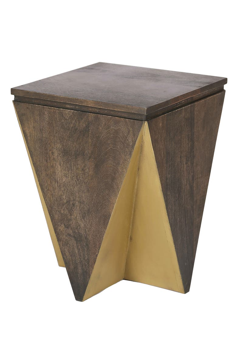 RENWIL Lionel Mango Wood Accent Table, Main, color, GOLD GREY