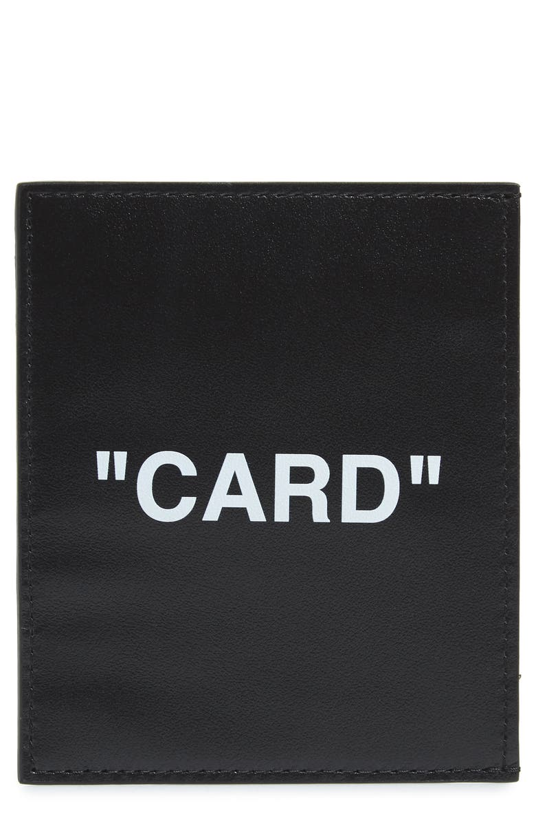 OFF-WHITE Quote Card Holder, Main, color, 001
