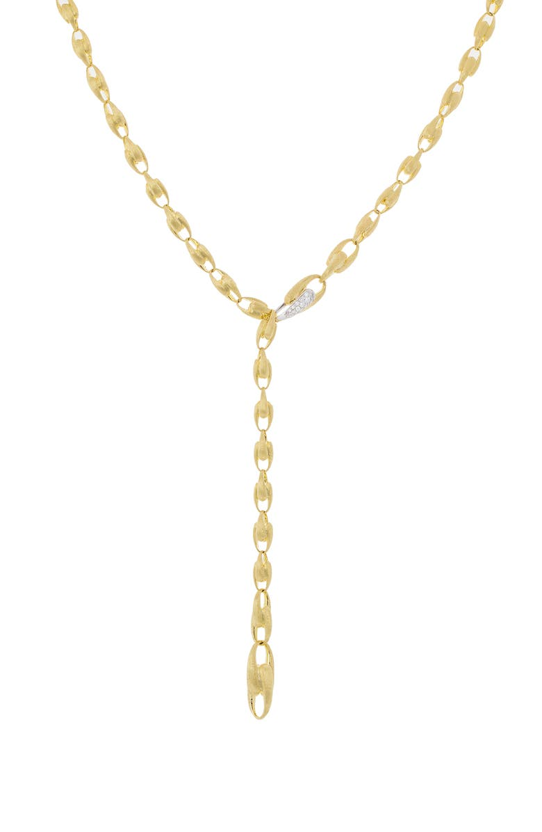MARCO BICEGO Lucia Diamond Clasp Convertible Lariat Necklace, Main, color, YELLOW GOLD/ WHITE GOLD