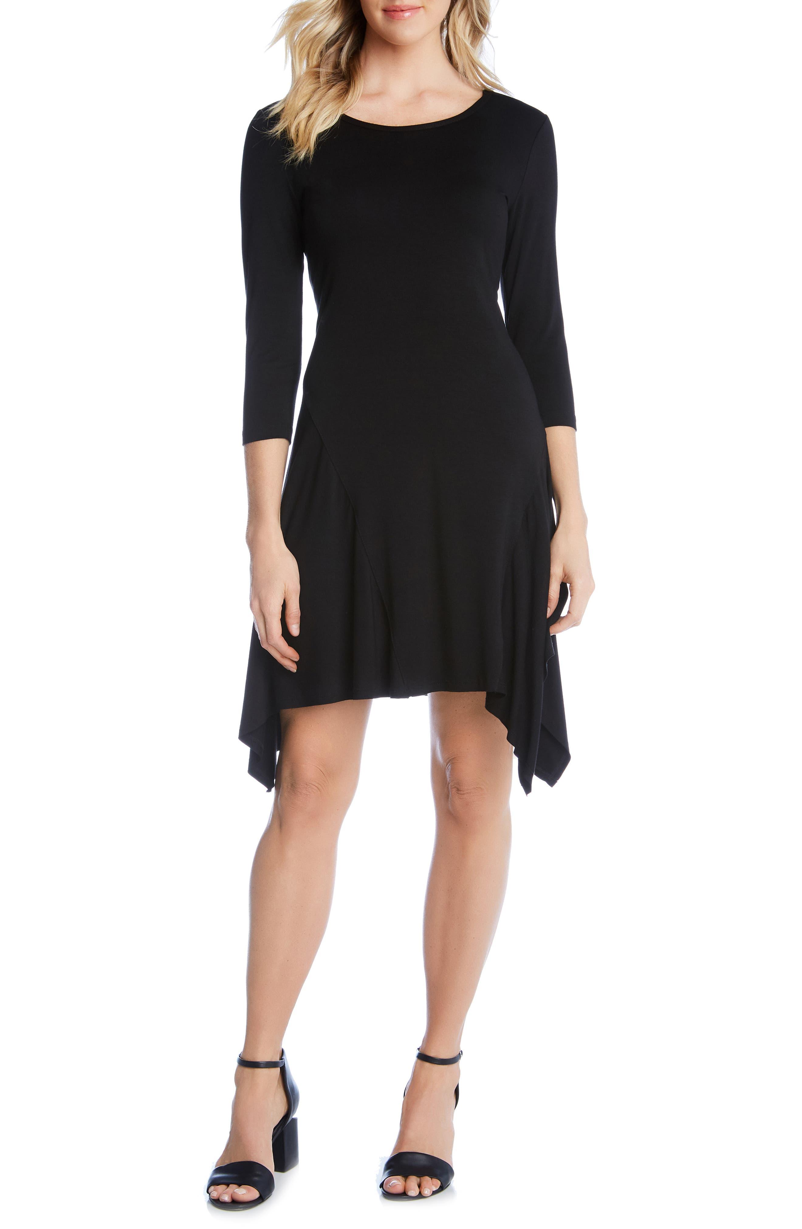 Karen Kane Handkerchief Hem Dress, Black
