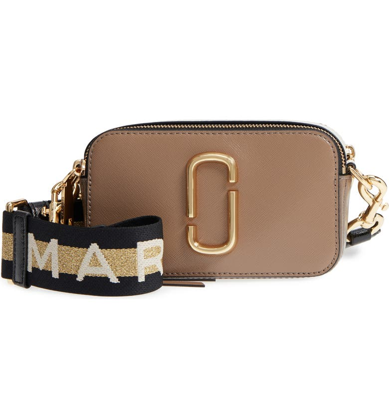 THE MARC JACOBS Snapshot Crossbody Bag, Main, color, FRENCH GREY MULTI