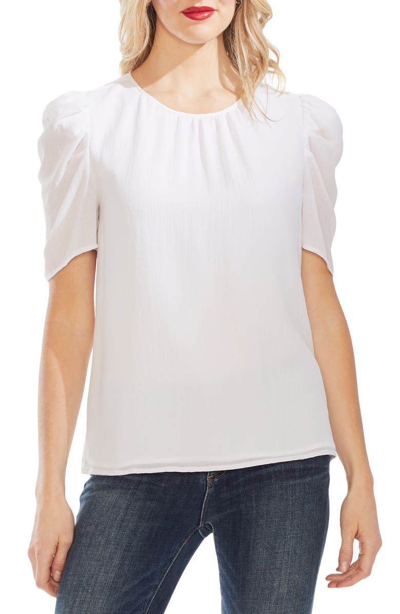 VINCE CAMUTO Puff Sleeve Top, Main, color, 145