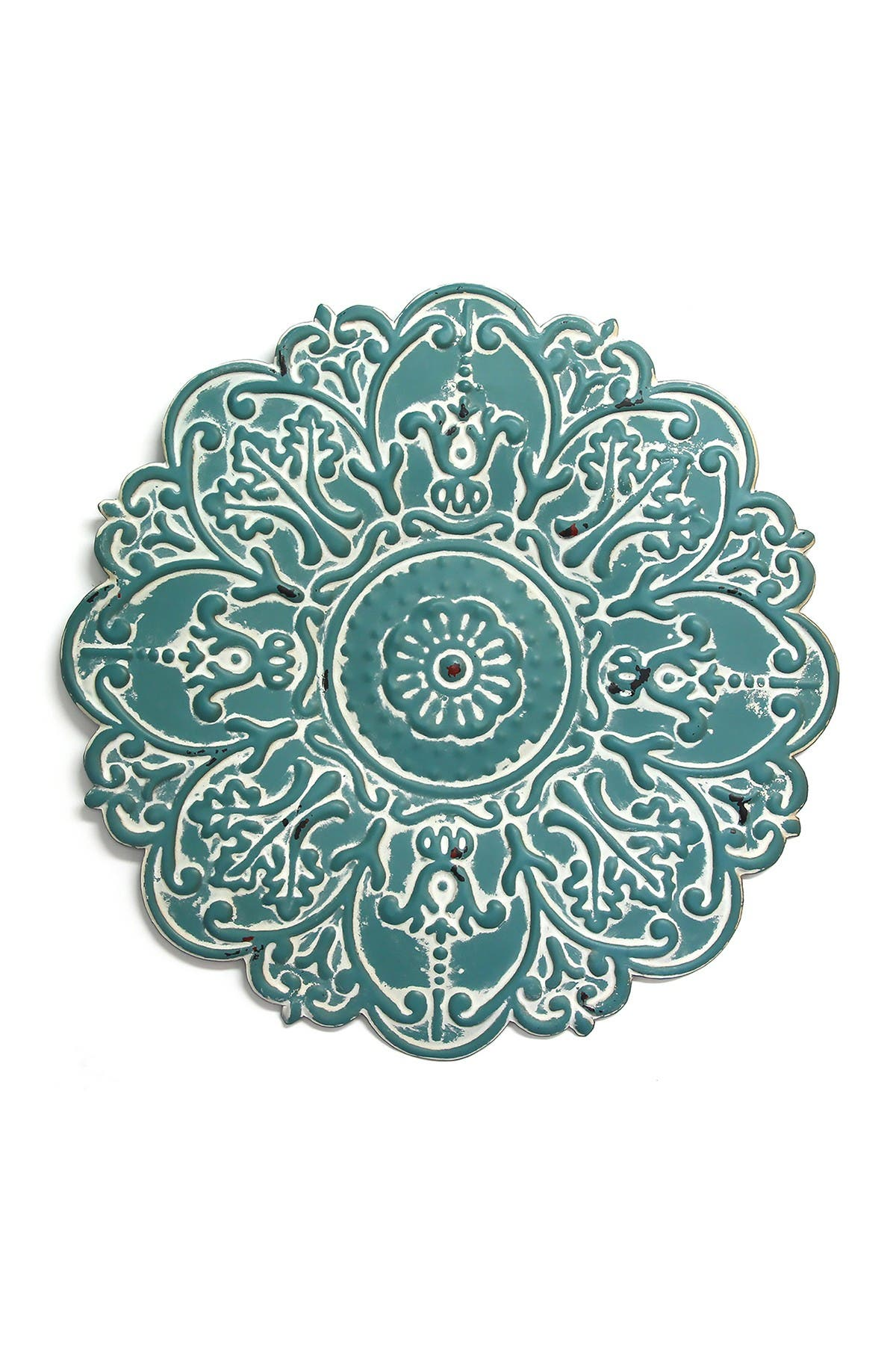 Image of Stratton Home Blue Small Blue Medallion Wall Decor